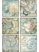 Ryžový papier A4 - vintage štítky