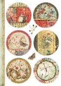Ryžový papier A4 - Orientálne kruhy
