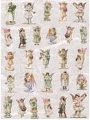 Ryžový papier 35x50cm - sošky anjelov