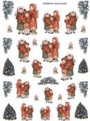 Ryžový papier 35x50cm - spievajúce deti v zime