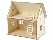 Drevený domček pre bábiky 18x27x25 cm