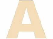 Drevené písmeno - 45 mm - A