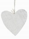 Drevené srdce 10cm - biele