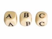 Drevené korálky kocky - abeceda 312 ks