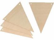 Drevená girlanda - trojuholníky - 4ks