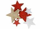 Drevený výrez hviezda 3,5cm - červená