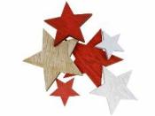 Drevený výrez hviezda 3,5cm - prírodná
