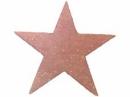 Drevený výrez hviezdička 4 cm -ružová s glitrami