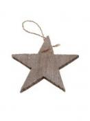 Drevená hviezda 7cm - prírodná