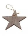 Drevená hviezda 10cm - prírodná