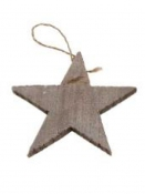 Drevená hviezda 15 cm - prírodná