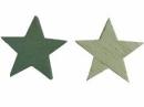 Drevená hviezdička 3cm - zelenomodrá