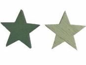Drevená hviezdička 3cm - vintage zelená