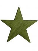 Drevený výrez hviezda 4cm - machová zelená
