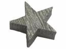 Drevená hviezdička 2cm - strieborná