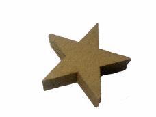 Drevená hviezdička 3cm - zlatá