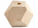 Drevená korálka diamant - 2 cm