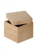 Drevená krabička - kocka - 5 x 5 x 5 cm