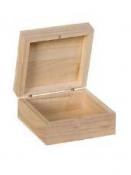 Drevená krabička - 10x10x5 cm