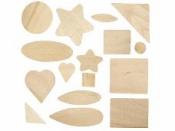 Drevená mozaika - mix tvarov