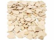 Drevená mozaika - srdiečka