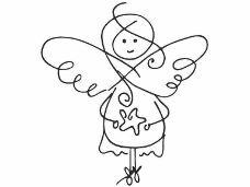 Drevená pečiatka - anjel