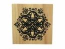 Drevená pečiatka - mandalová vločka - 5x5cm