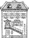 Drevená pečiatka - domček