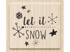 Drevená pečiatka let it SNOW
