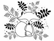Drevená pečiatka - líška