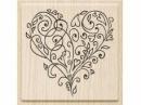 Drevená pečiatka srdce