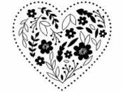Drevená pečiatka - srdce