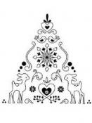 Drevená pečiatka - vianočný stromček