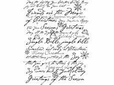 Drevená pečiatka - Jingle Bells