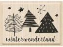 Drevená pečiatka winterwonderland