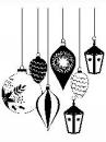 Drevená pečiatka - vianočné gule
