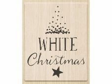 Drevená pečiatka - White Christmas