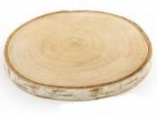 Drevená podložka - kmeň - 8-10cm - breza