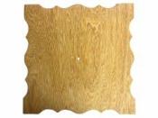 Drevená podložka k hodinám štvorec 33cm - krojená