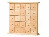 Drevená skrinka - 25 šuflíkov