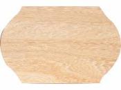 Drevená tabuľka 25 x 39 cm - oválna krojená