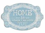 Drevená tabuľka 15x10 cm - Home