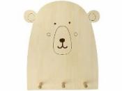 Drevená závesná tabuľa - medveď