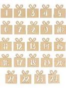 Drevené adventné čísla - darčeky