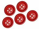 Drevené červené gombíky 30 mm - 5 ks
