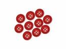 Drevené červené gombíky 15mm - 10 ks