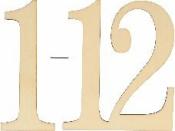 Drevené čísla 1 - 12