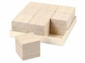Drevené detské kocky 4x4x4 cm