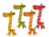 Drevené gombíky žirafa 4 cm - sada 4 ks - farebný mix