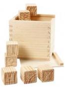 Drevené kocky ABC a čísla - 27 kusov